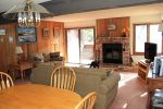 Condo Rental in Mammoth Sunrise 6 - Dining Area Looking in Living Room